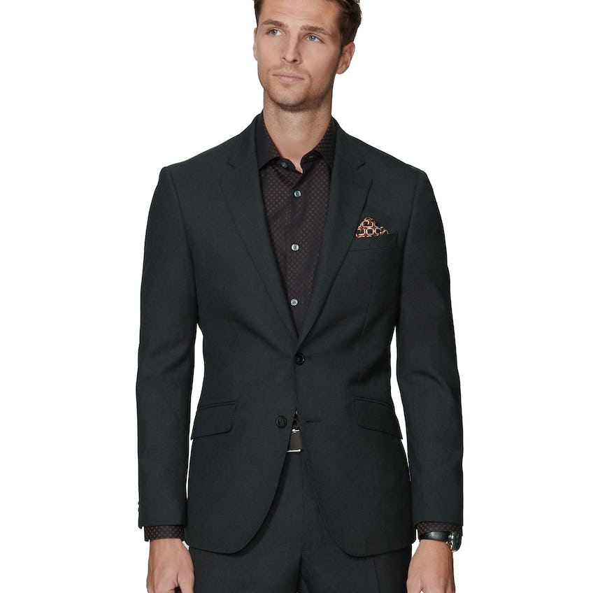 Ronnie Infinity Active Slim Fit Charcoal Jacket 0