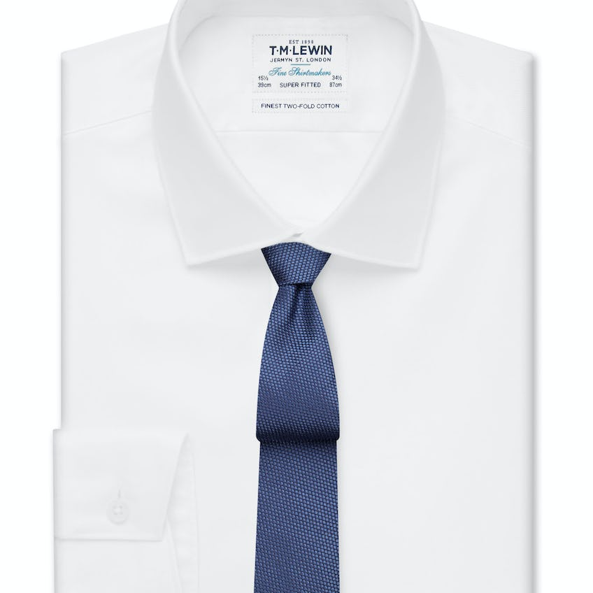 Super Fitted White Luxury Twill Shirt 0