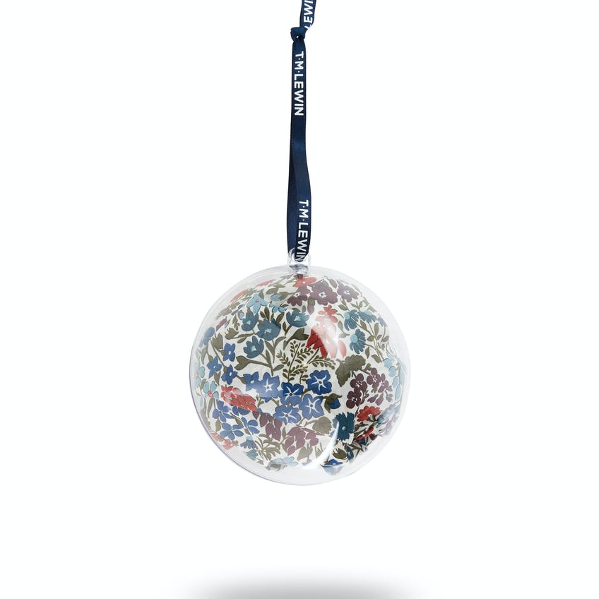 Handkerchief Bauble Made with Liberty Fabric Sweet May Print