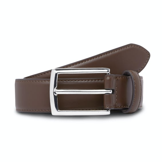 Real Leather Brown Classic Suit Belt 0