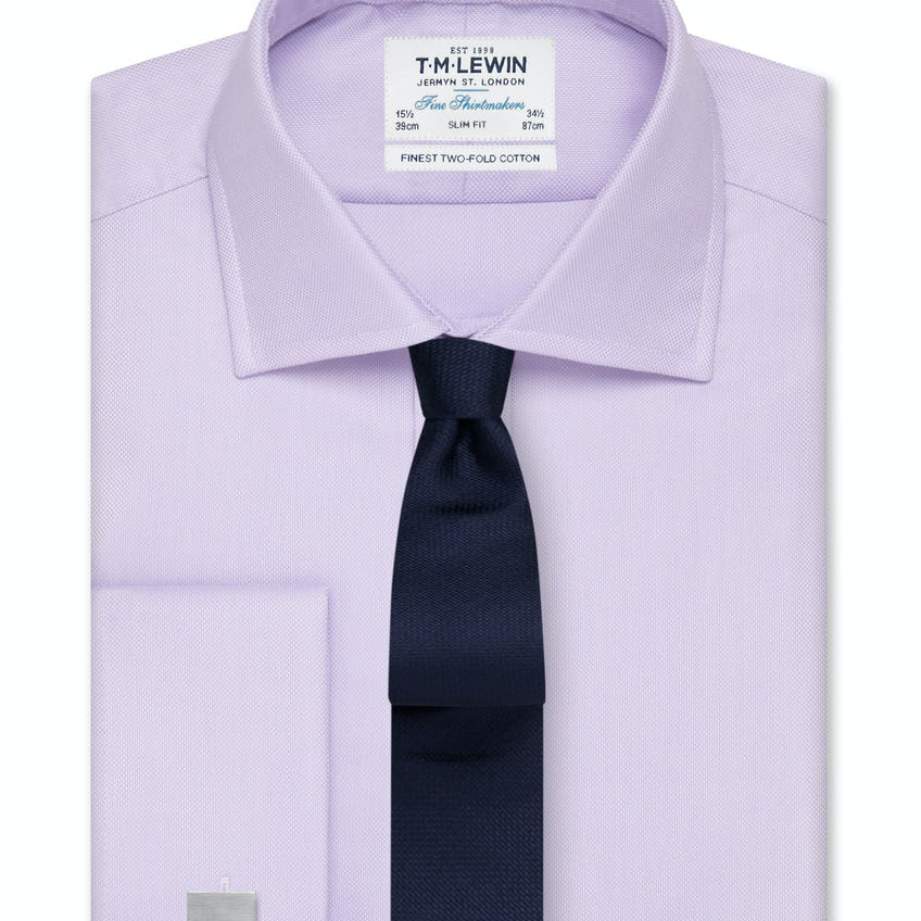 Slim Fit Lilac Oxford Double Cuff Shirt