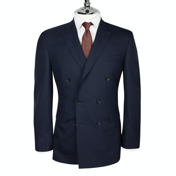 Fitzrovia Barberis Slim Fit Double-Breasted Navy Jacket 0