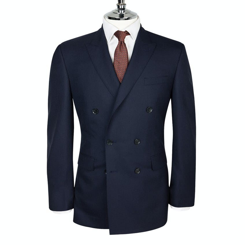 Fitzrovia Barberis Slim Fit Double-Breasted Navy Jacket