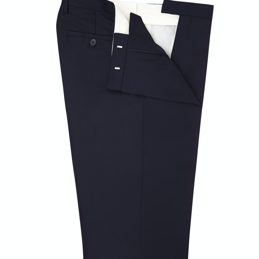 Orton Navy Wool Twill Regular Fit Suit Trousers 0
