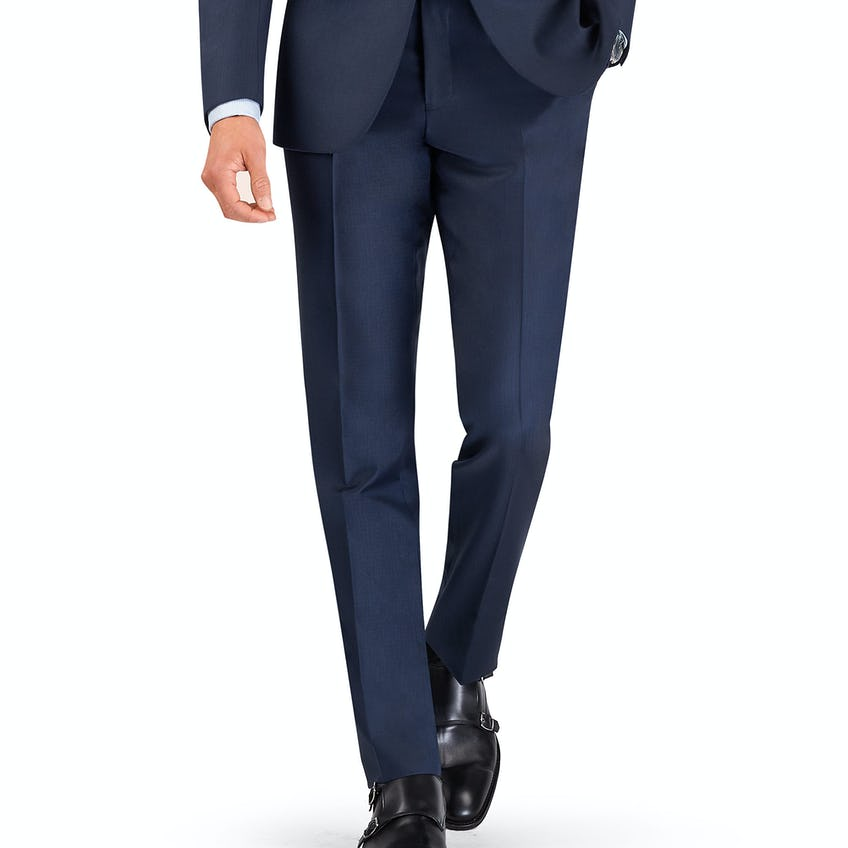 Phelps Infinity Active Regular Fit Navy Blue Trousers 0