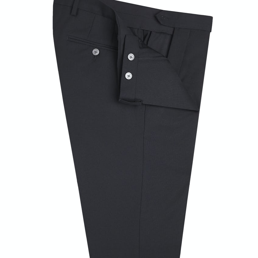 Theo Skinny Fit Black Perceived Textured Trousers 0