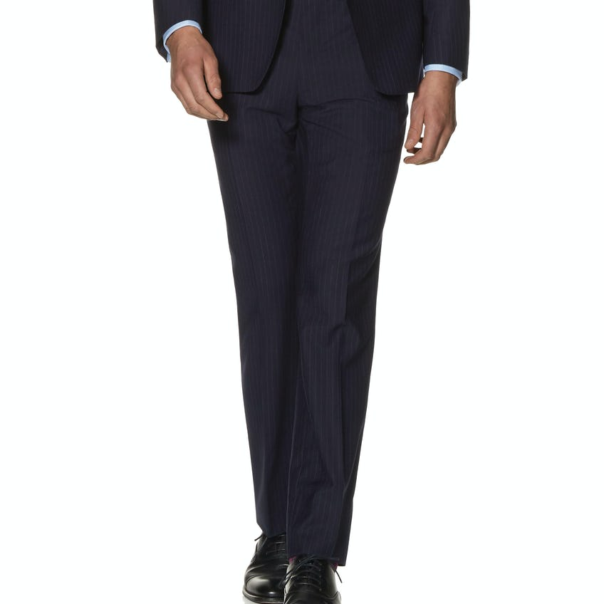 Lomu Infinity Active Slim Fit Navy Stripe Trousers 0