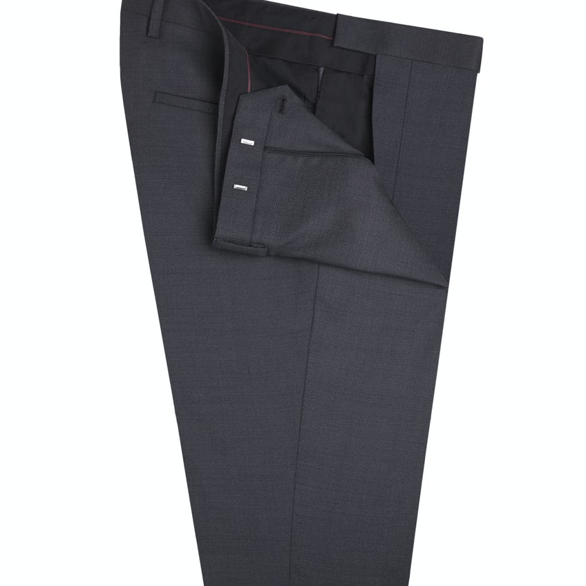 Charles Slim Fit Charcoal Wool Trousers 0