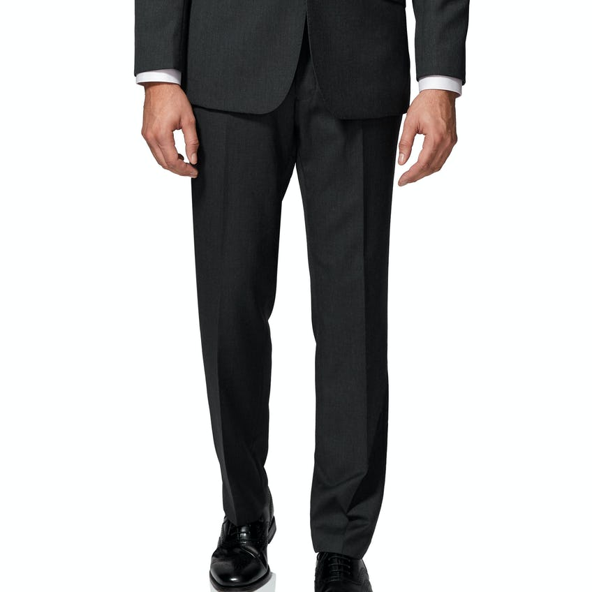 Middleton Regular Fit Charcoal Twill Wool BlendTrousers 0