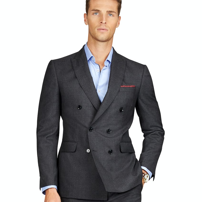 Waterhouse Barberis Slim Fit Plain Charcoal Jacket