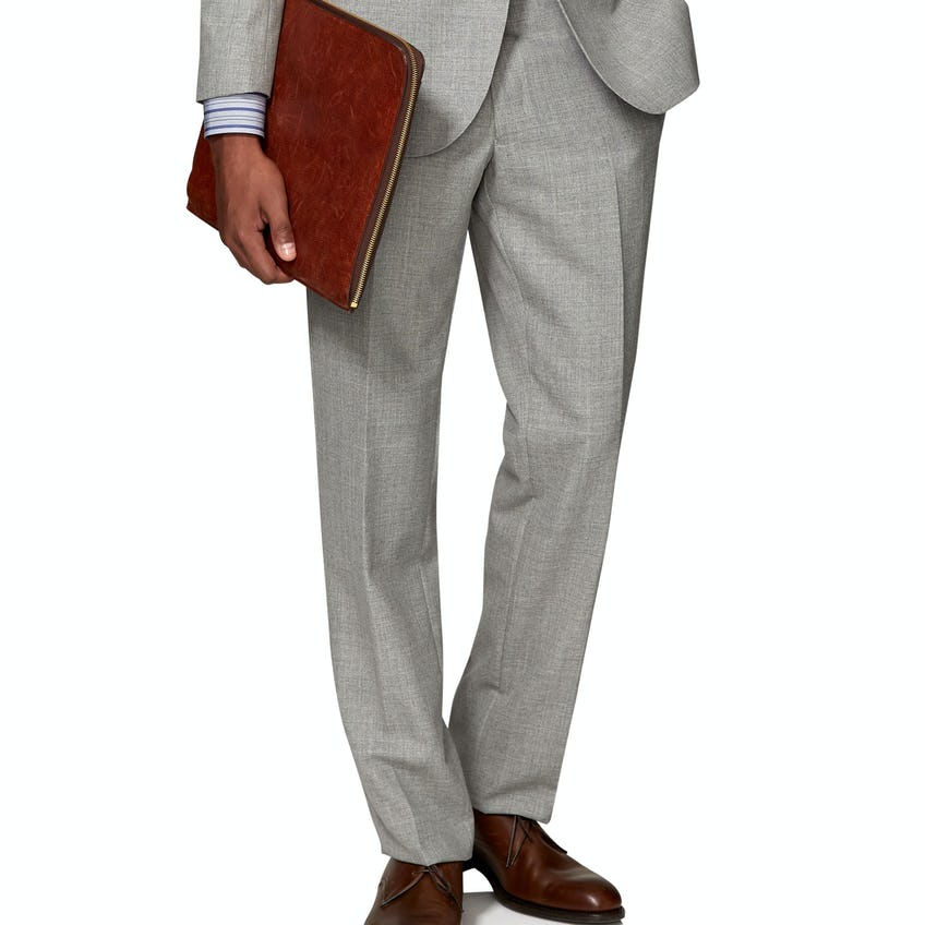 Canaletto Barberis Slim Fit Grey Suit Trouser 0