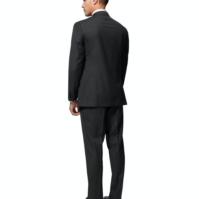Middleton Regular Fit Suit in Charcoal Twill Wool Blend 0