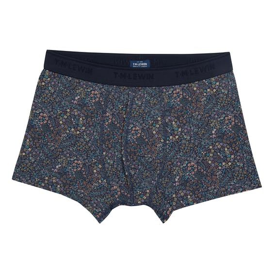 Liberty Fabric Navy Little Marquess Boxers 0