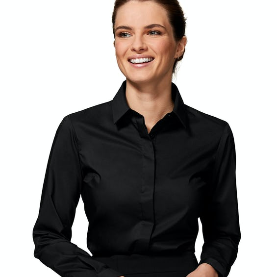 Fitted Black Stretch Shirt 0