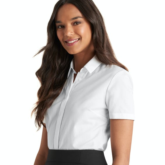 Fitted White Short Sleeve Shirt 0