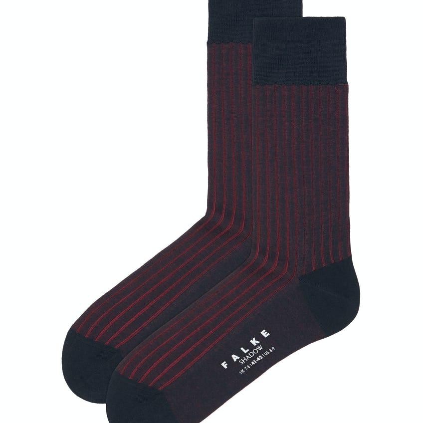 Falke Red and Navy Shadow Socks