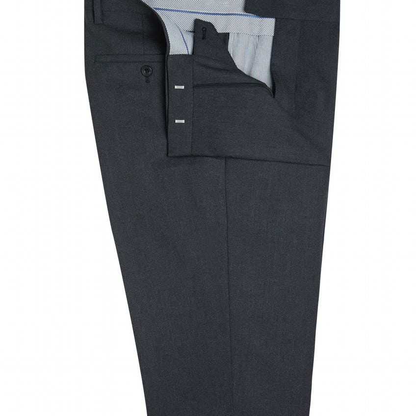 Westminster Infinity Regular Fit Charcoal Trousers
