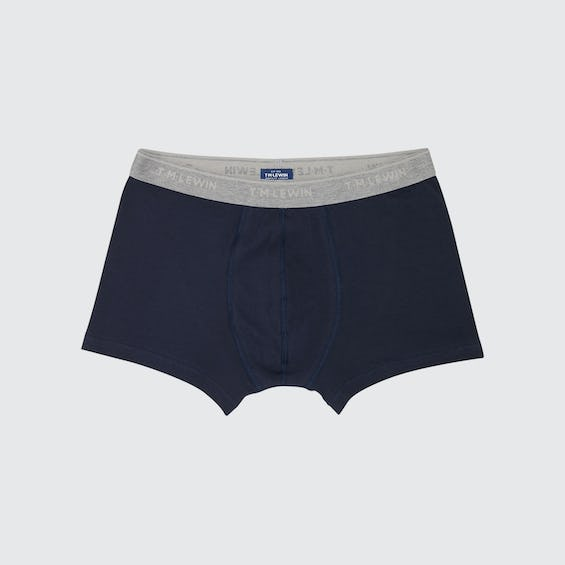 Navy Jersey Trunk with Contrast Waistband 0