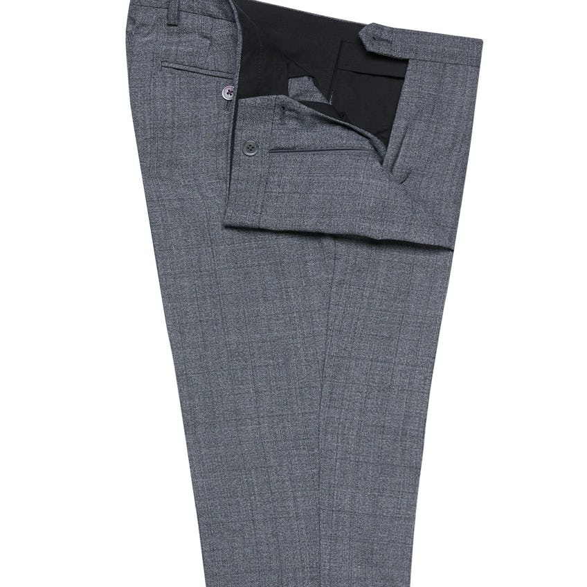 Bay Skinny Fit Grey Prince of Wales Check Trousers 0