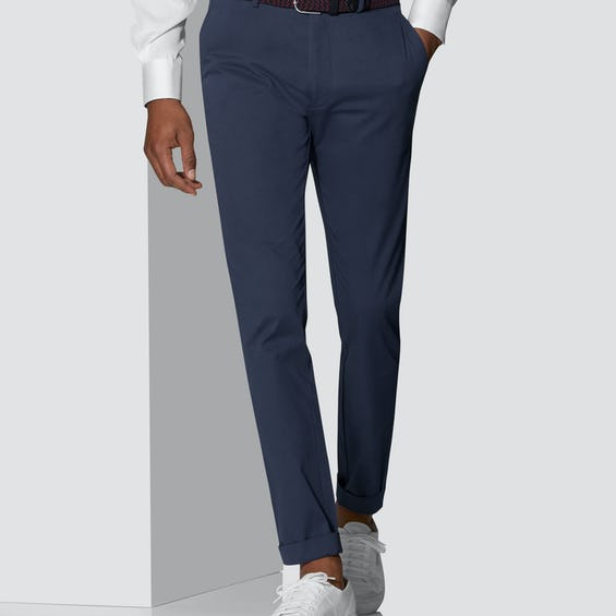 Radcliffe Extra Slim Fit Blue Twill Chino 0