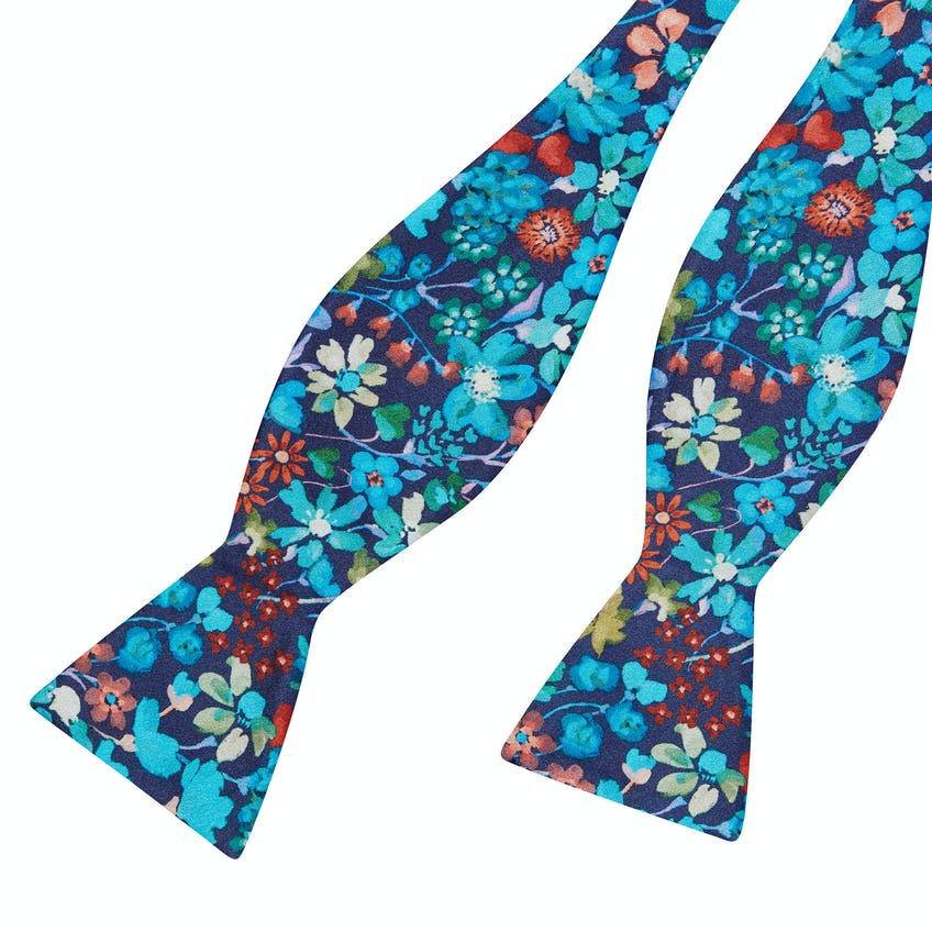 Made with Liberty Fabric Dreams of Belgravia Print Self Tie Bow Tie 0