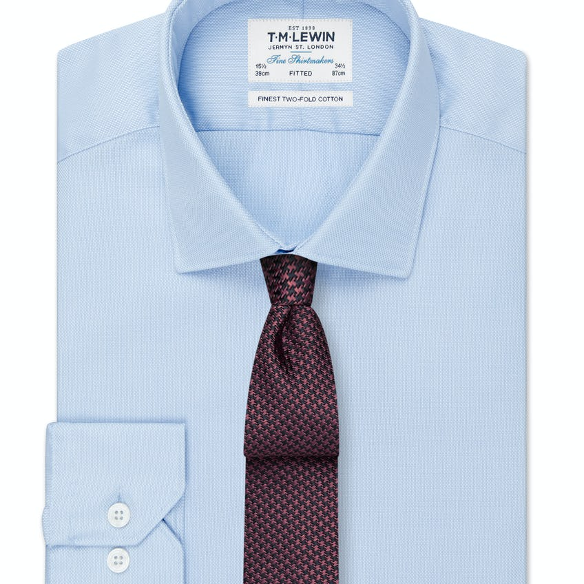 Fitted Blue Royal Oxford Shirt 0