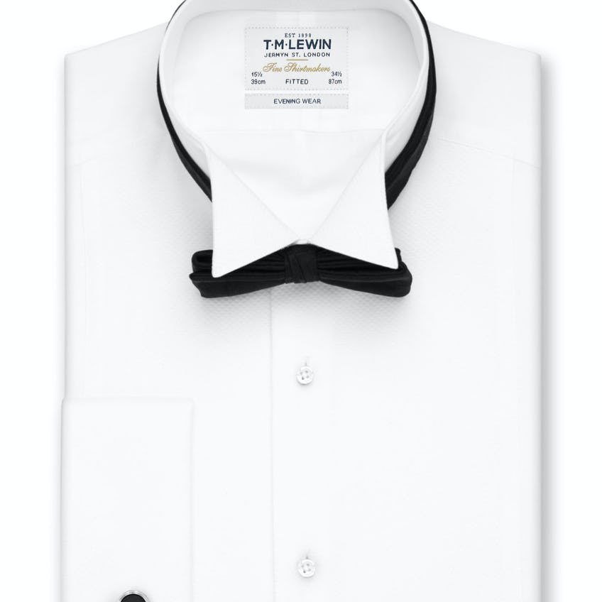 Marcella Wing Collar Fitted Evening Dress Shirt