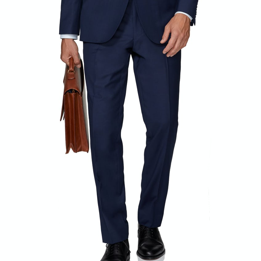 Windsor Slim Fit Navy Twill Trouser