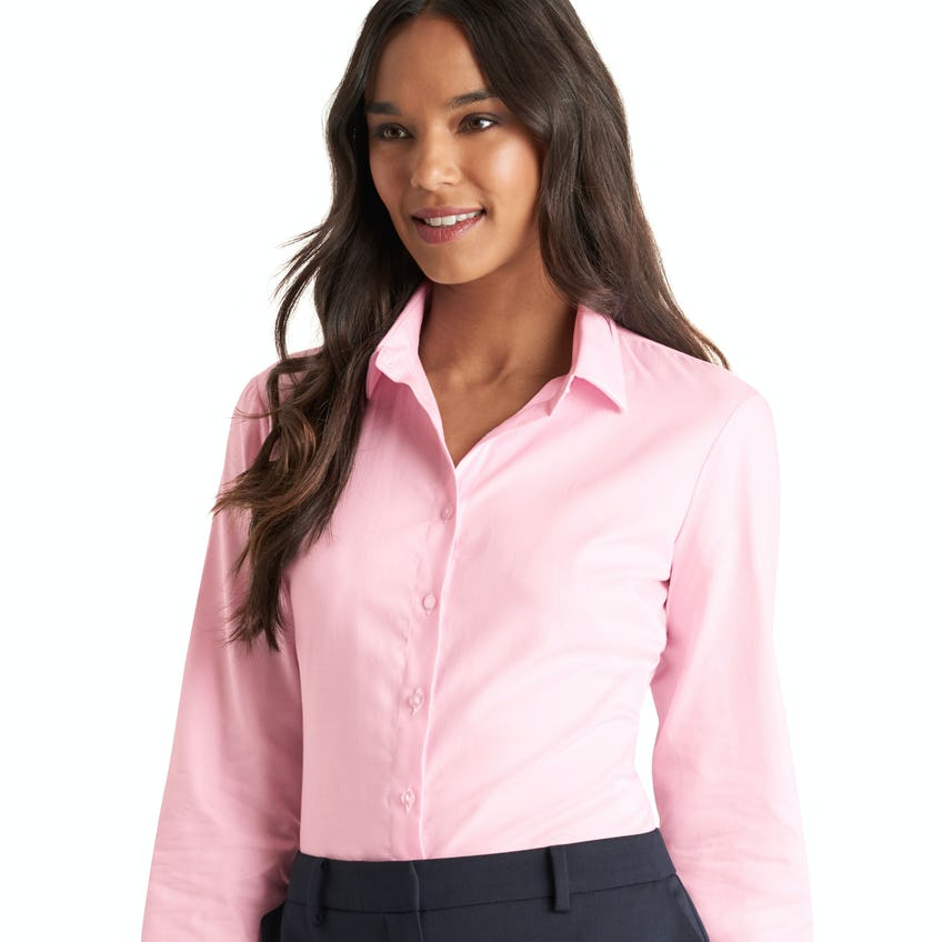 Fitted Pink Twill Shirt 0