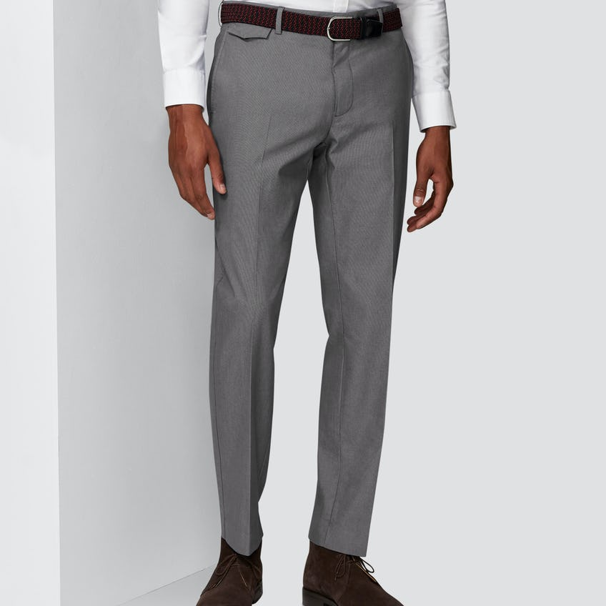 Connery Tailored Fit Charcoal Pin Dot Chino 0