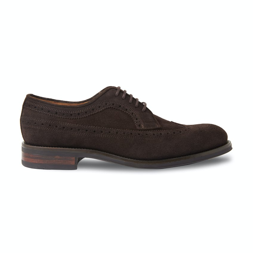 Whitehall Brown Suede Business Casual Brogue 0