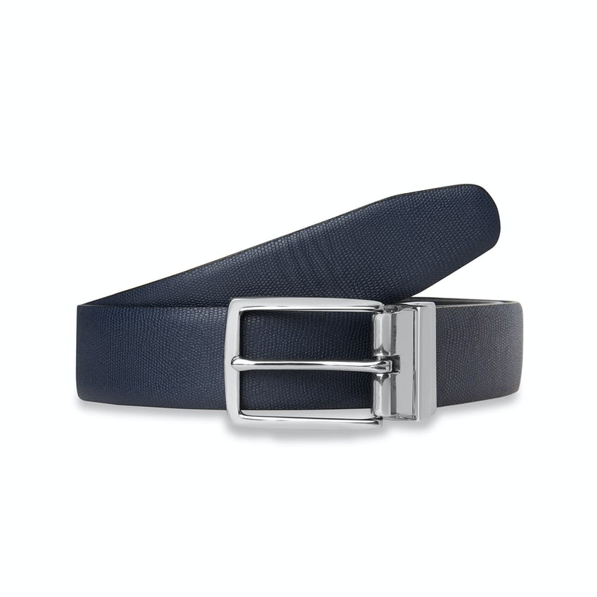 Navy and Black Reversible Leather Belt 0