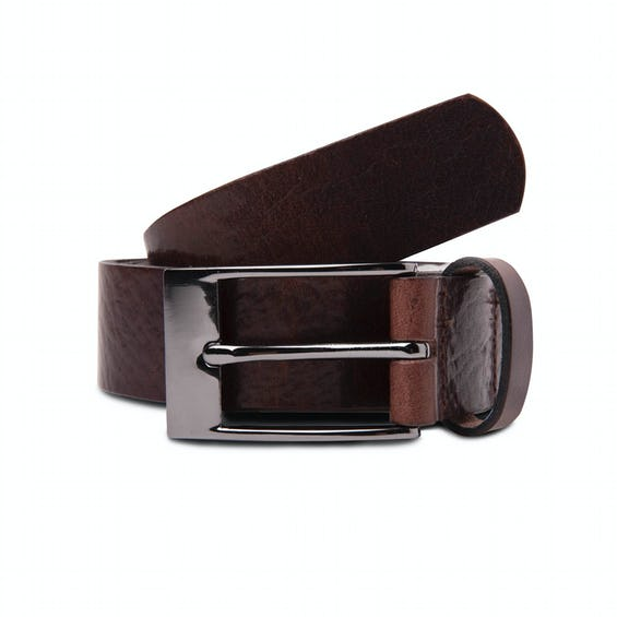 Made In England Brown Leather Belt 0