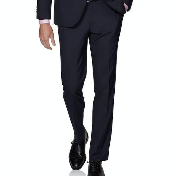 Leo Infinity Active Slim Fit Navy Trousers 0