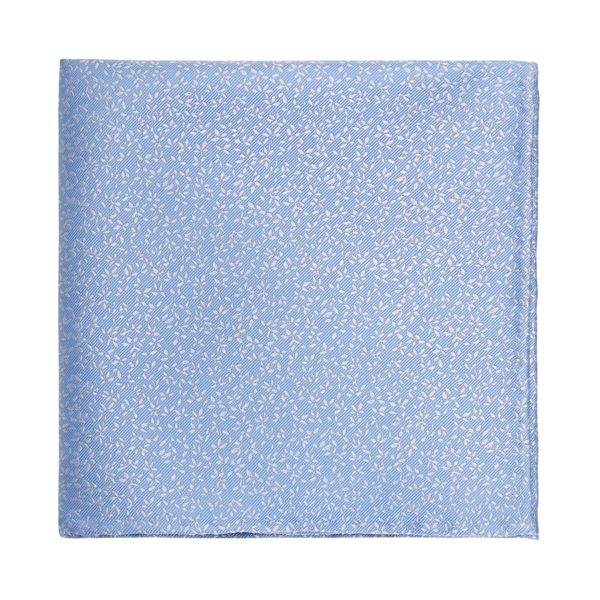 Occasionwear Blue Ditsy Floral Silk Pocket Square
