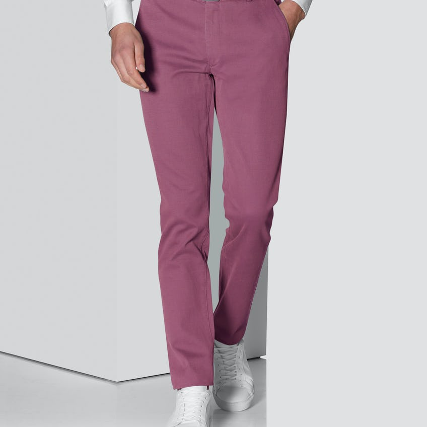Moretti Extra Slim Fit Raspberry Textured Chino
