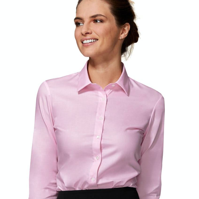 Fitted Pink Twill Double Cuff Shirt 0
