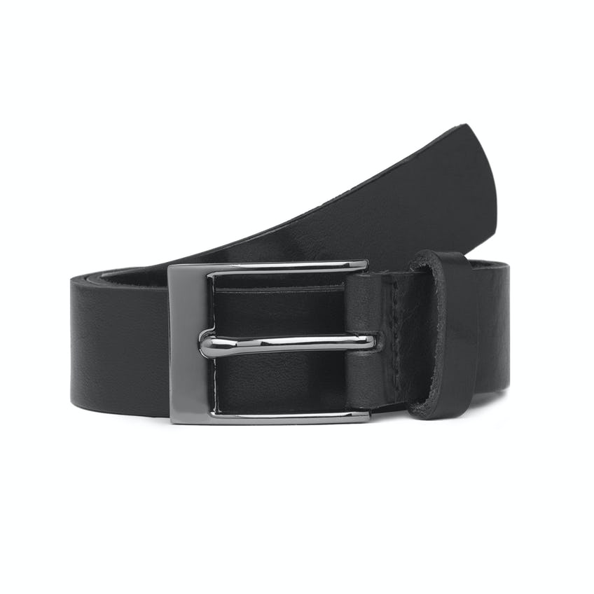 Made in England Black Leather Belt