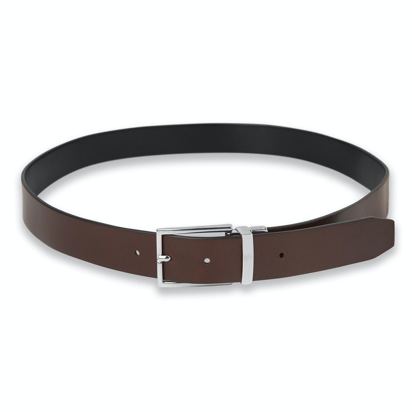 Black and Brown Italian Leather Reversible Belt 0