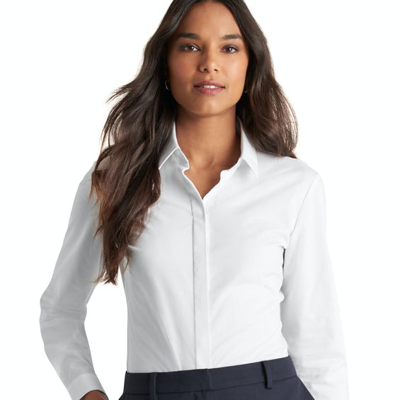 Fitted White Stretch Shirt 0